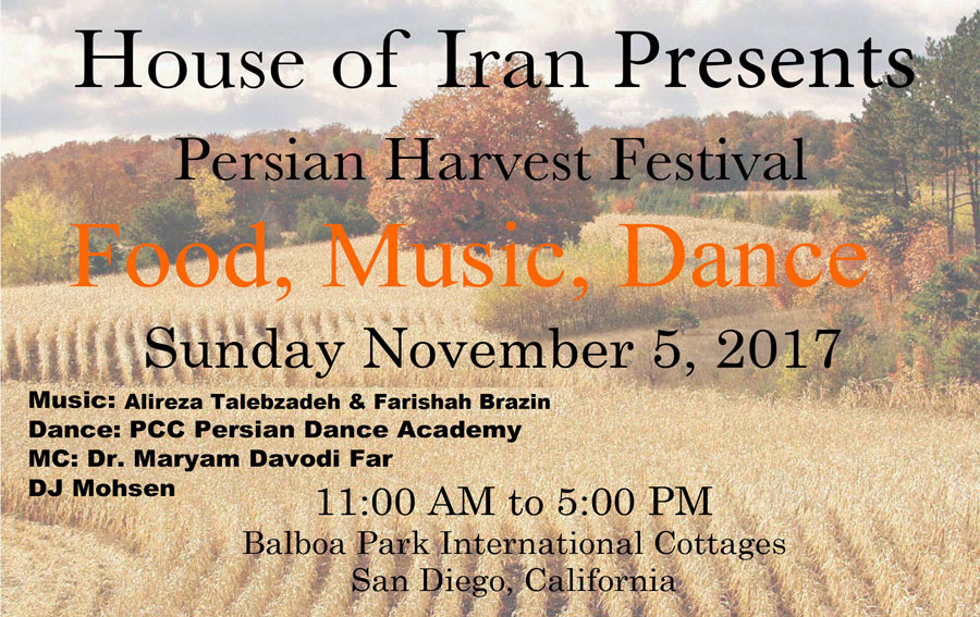 House of Iran 2017 Harvest Festival