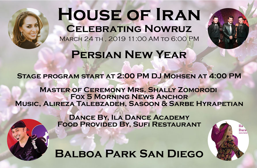 House of Iran 2019 Nowruz Celebration at Balboa Park, San Diego